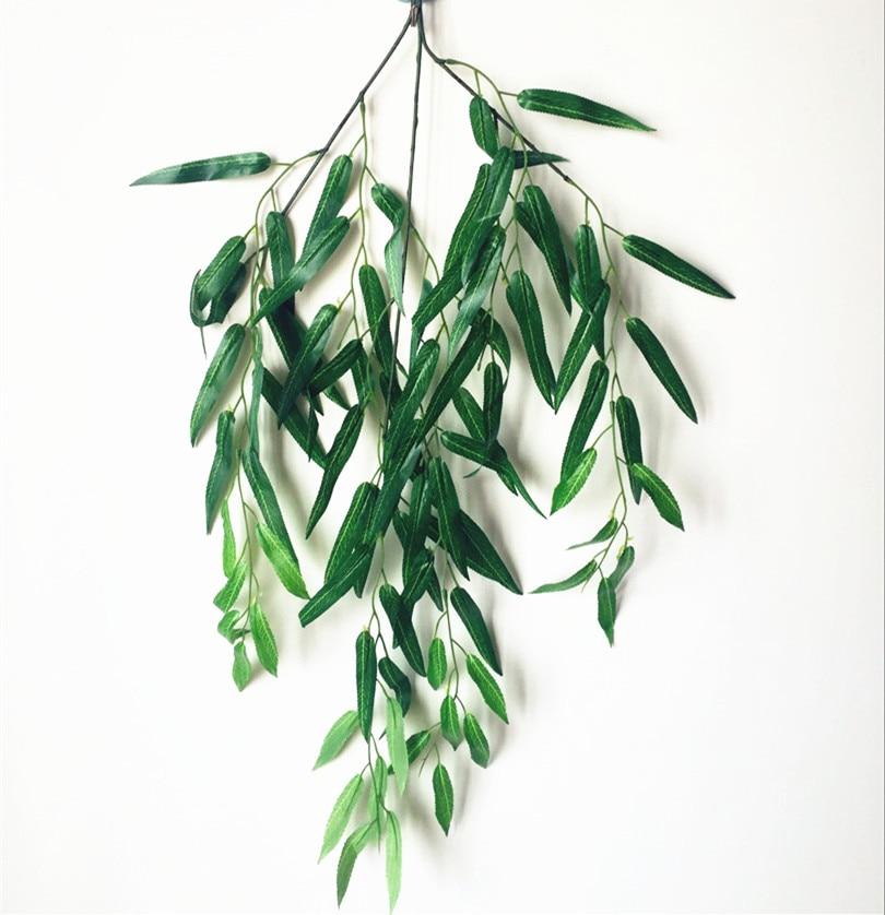 6pcs / lot Verde Culoare Willow Leaf Rattan Long Fake Verdeață - Produse pentru sărbători și petreceri