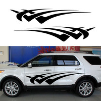 2 X Personalized Abstract Stripe Quickly Move Forward Through The Car Sticker For SUV Camper Van