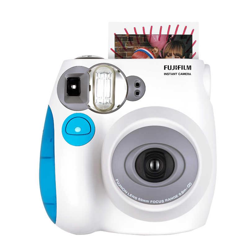 Fujifilm Instax Mini 7s film natychmiastowy aparat fotograficzny niebieski różowy czarny darmowa wysyłka, zaakceptuj Fuji Fujifilm Instax Mini filmy