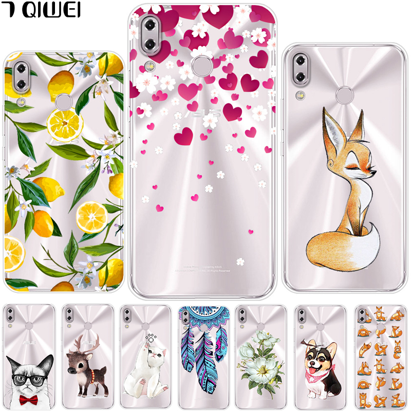 6.2'' For Asus Zenfone 5z / Zenfone 5 Ze620kl Case Silicone Soft Tpu Cover For Asus Zenfone 5z Zs620kl Case 2018 Clear Fashion