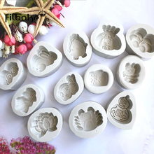 FILBAKE Silicone Fondant Mold Moon Cake Mould 3D DIYChocolate Mousse Baking Decoration Tools Bakeware Toys