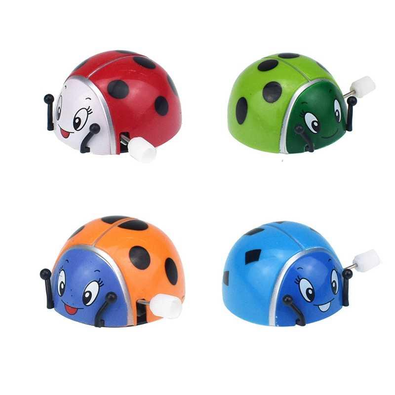 Animal Clockwork Cartoon ladybug Novelty Funny Toys Antistress Jumping Baby Kids Toys for Children Clockwork Jokes Christma Gift