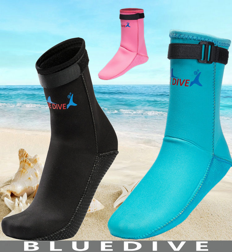Non-slip 3mm Neoprene Diving Surfing Socks Warm Swimming Shoes Prevent Scratch Mens Womens Childrens Beach Snorkeling Boots
