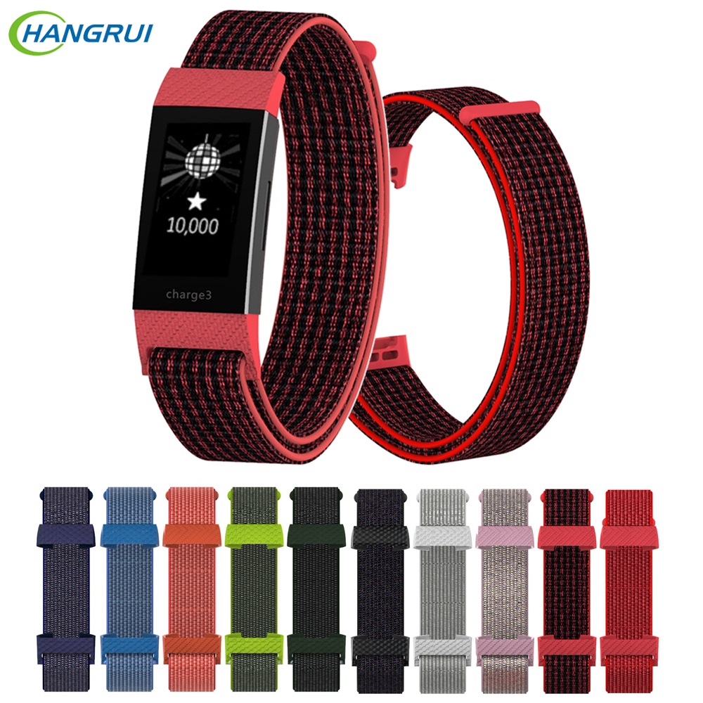 Replacement Nylon Bracelet Strap For Fitbit Charge 3 Band Colorful Wrist Strap For Fitbit Charge3 Accessories