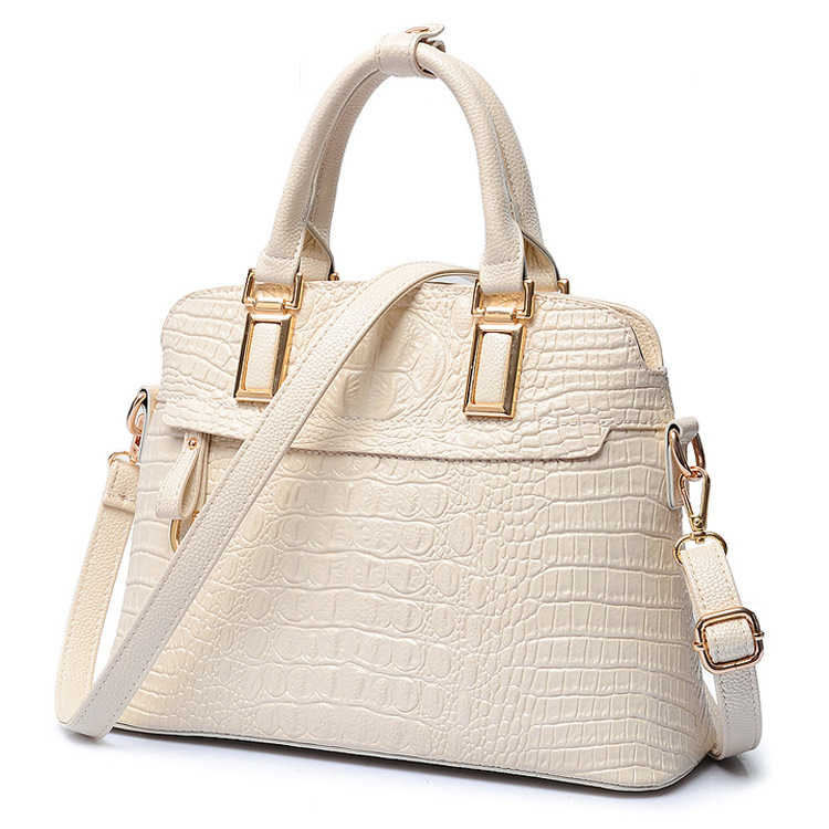 Luxury Women Crocodile Handbag Women's Shell Bag High Quality Designer Embossed Handbag Crocodile Pu Leather Ladies Tote BagG89 yuanyu new 2017 new hot free shipping crocodile women handbag single shoulder bag thailand crocodile leather bag shell package