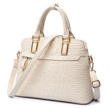 Luxus Frauen Krokodil Handtasche der Frauen-schalentasche Hohe Qualität Designer Geprägte Handtasche Krokodil Pu-leder Damen Tote BagG89