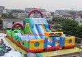Nuevo diseño gigante pista de obstáculos inflables, pista de obstáculos inflables al aire libre barato para niños y adultos