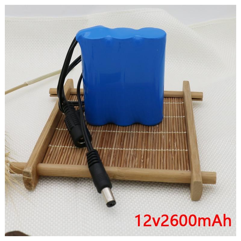Cros Free Shipping 11.1V 12V 2600mAh 18650 Batteries Lithium-ion Battery Pack Backup Power Ups CCTV +12.6V 1A Charger