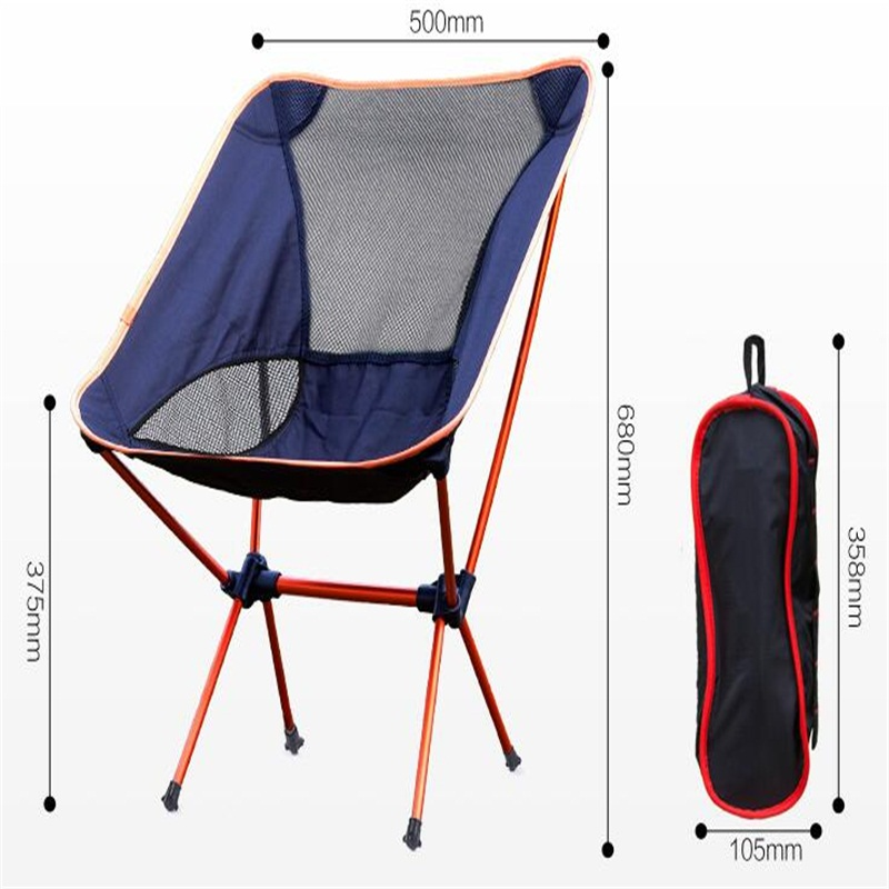 цена на Aluminum Alloy Folding Beach Chair Portable Outdoor Fishing Chair Ultra-Light Camping Leisure Chair