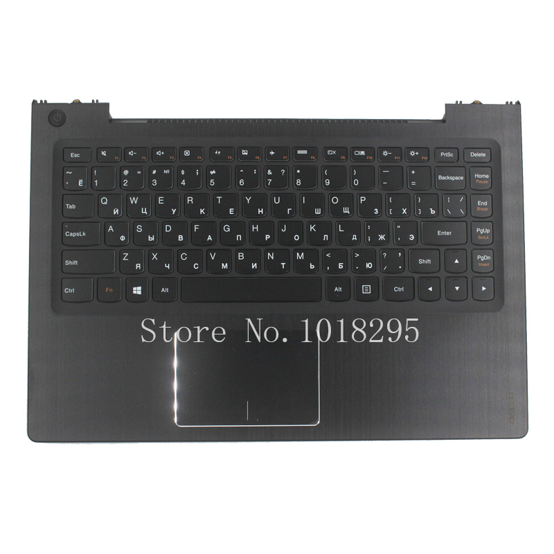 NEW RU For Lenovo U330p U330 Russian laptop keyboard with case Palmrest Touchpad black new russian for hp envy x2 11 g000 g003tu tpn p104 hstnn ib4c c shell ru laptop keyboard with a bottom shell