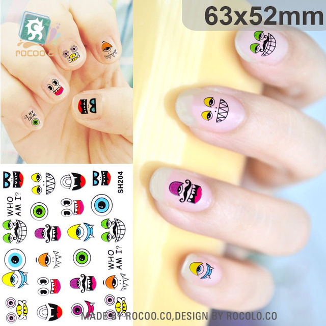 Environmental Protection Diy Manicure Sticker Nail Paper Self Adhesive Small Fl Pattern Sh204 Cute