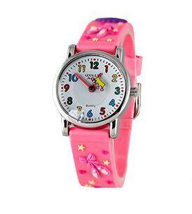 High Quality Children Cartoon Pink Party Watch Waterproof  Kids Watches Brand Quartz Silicone Fashion Casual Watch Y12589