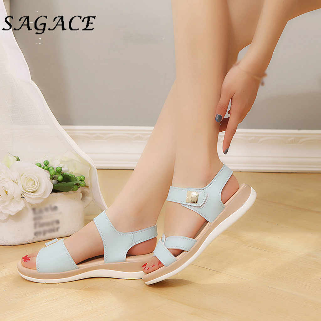 SAGACE รองเท้าสุภาพสตรีรองเท้าแตะ WEDGE Elegant รองเท้าชายหาดรองเท้าแตะ 2019 ฤดูร้อนปั๊มรองเท้าผู้หญิงรองเท้าส้นสูงรองเท้าผู้หญิง