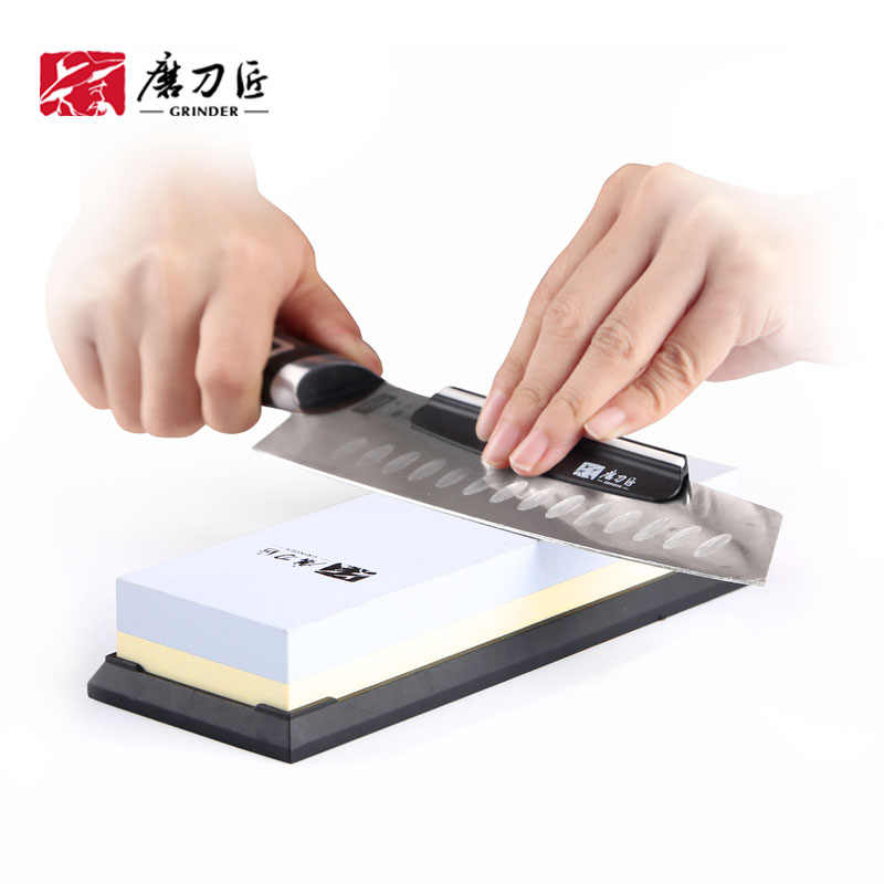 GRINDER 2-in 1 Kitchen Sharpening stone 3000/1000 Grit double-side Whetstone TAIDEA knife sharpener