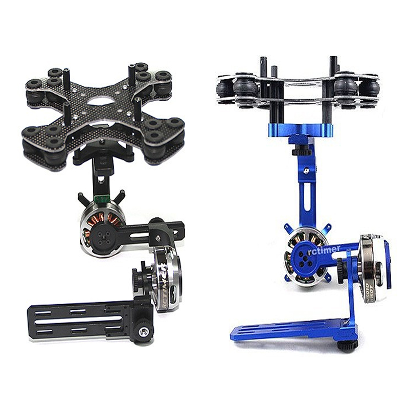 Rctimer ASP 2 Axis Nex GH5 Series Brushless Gimbal Black Blue Color