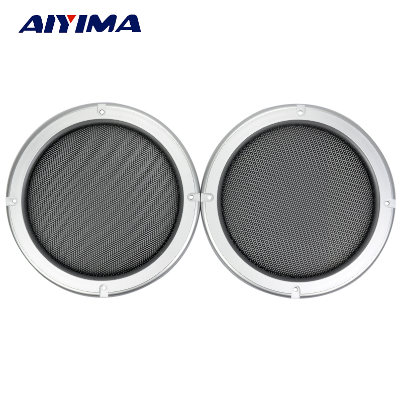 Aiyima 2Pcs 6.5Inch Tweeter Audio Speaker Cover Speakers Protective Net Tweeters Grille Waffle Mesk Grills Audio Accessories