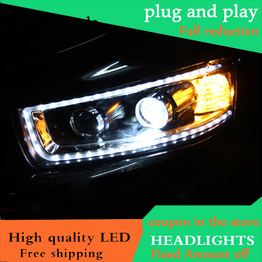 Car Styling Head Lamp For Chevrolet Captiva headlights 2012 2015 LED headlight DRL Bi Xenon Lens xenon HID Low Beam