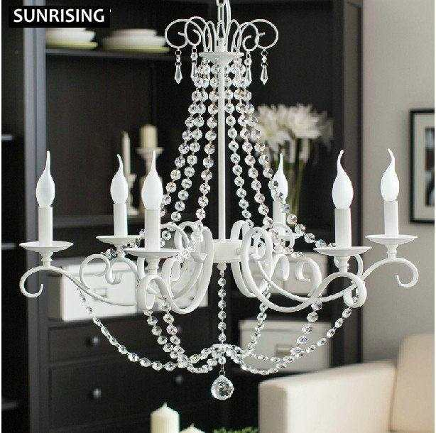 white IKEA iron de chandelier lustres color wrought crystal erdCBxoW