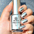 1 Бутылок 15 мл Born Pretty Популярный  Привлекательный Зеркальный Эффект Лак Для Ногтей  Серебристый Цвет (базовый Слой Необходимости)