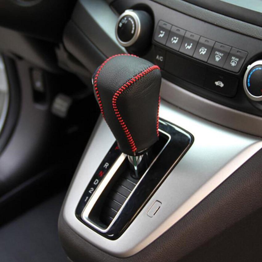 ABS Chrome Interior Gear Shift Knob Cover Trim For Honda CR-V CRV 2012-2015