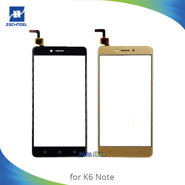 US $7 13 6% OFF|5 5'' K6 Note Touch Screen for Lenovo K6 Note K53a48 Touch  Screen Digitizer Sensor Front Glass Lens Panel Black Gold White-in Mobile