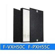 F ZXHD55C F ZXHP55C เครื่องฟอกอากาศ hepa กรองคาร์บอนสำหรับ Panasonic F PXH55C F VXH50C F VJL55C F VXK40C ชิ้นส่วนเครื่องฟอกอากาศตัวกรอง