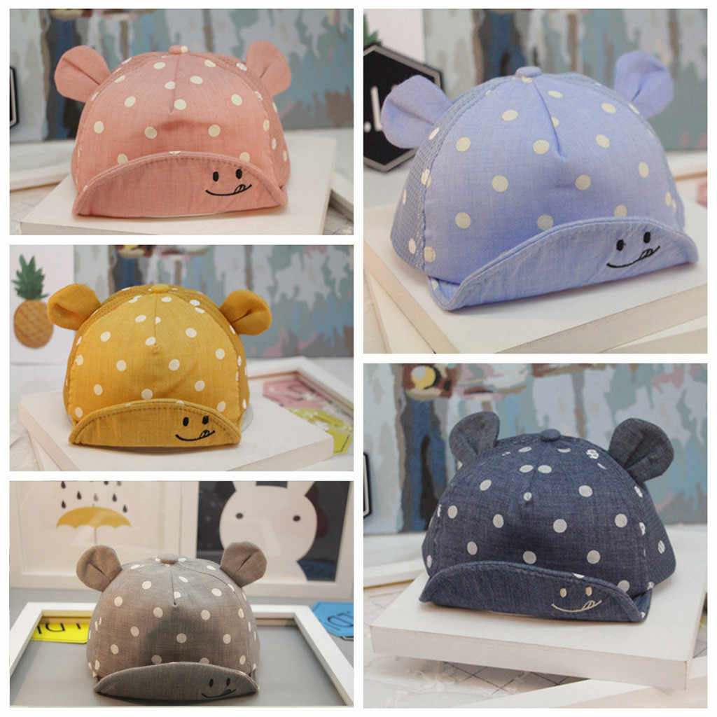 Kids Cute Hat Toddler Baby Kids Boys And Girls Hat Fashion Lovely Dot Children Cartoon Print Cap Affordable czapki dla dzieci