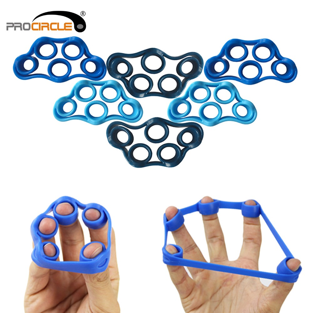 ProCircle Silicone Hand Resistance Band Set Yoga Exercisers Finger Stretcher