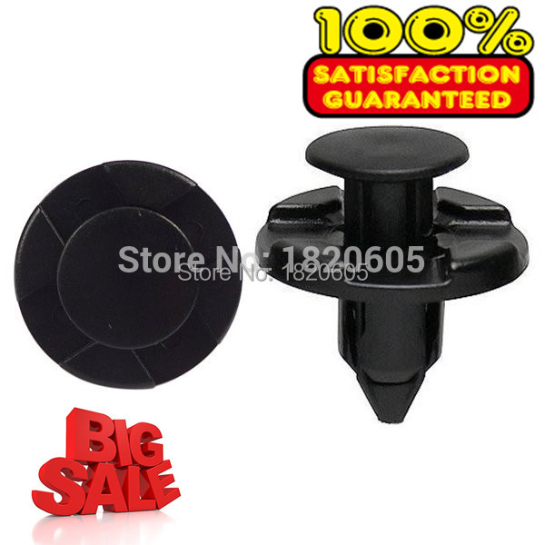 100pcs 8mm for Nissan//Mazda Clips Plastic Push Type Rivet Retainer Fastener Bump