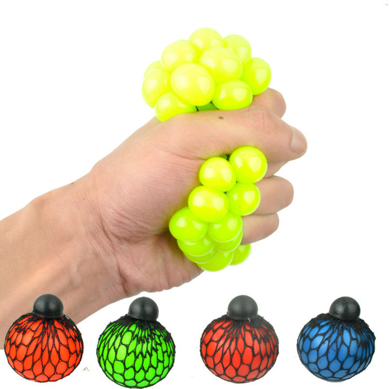 Child Toys Grape Ball Anti Stress Face Reliever Autism Mood Squeeze Relief Toy