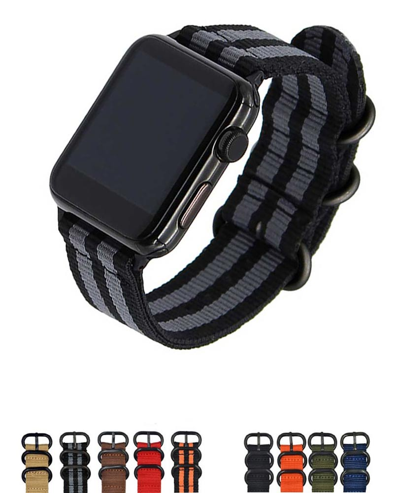 new Hot sale Nylon strap for Apple Watch Band Series 3/2/1 sport leather bracelet 42mm 38mm strap for iwatch band цена и фото