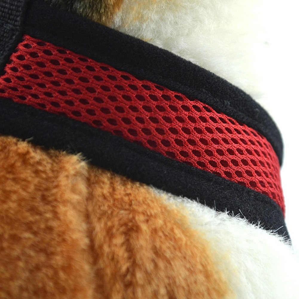 通気性メッシュ小型犬ペットハーネスとリーシュセット子犬猫ベストハーネス首輪チワワパグブルドッグ猫