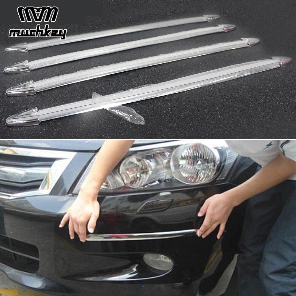 4pcs Universal Car Accessories Front Rear Body Bumper Protector Anti scratch Bumper Strip Car