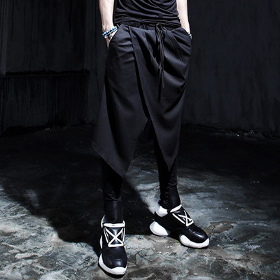 27-44 Big yards Male western-style trousers male personality slim culottes boot cut jean ...