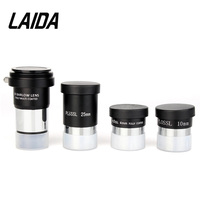 LAIDA 1.25 Plossl Eyepieces Kit 4mm+10mm+25mm+2x Barlow Lens for Astronomical Monocular Telescope M0079