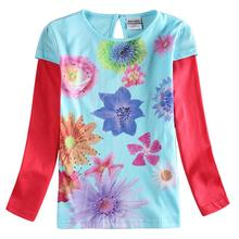 Girls Long Sleeve T-Shirt Childrens Cotton Print Autumn Spring Clothing Kids Wear 6685