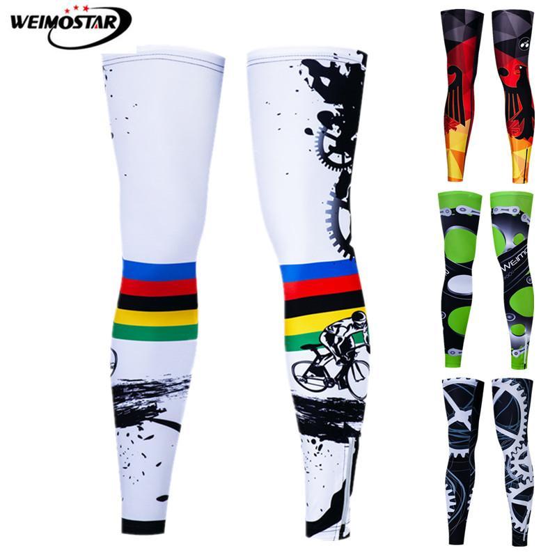 Weimostar Anti-UV Leg Warmers Cycling Outdoor Sport MTB Bike Protect Cover Windproof Bicycle Leg Sleeves Basketball knee warmer