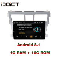 IDOICT Android 8.1 Car DVD Player GPS Navigation Multimedia For Toyota Vios Yaris Radio 2008 2013 car stereo bluetooth