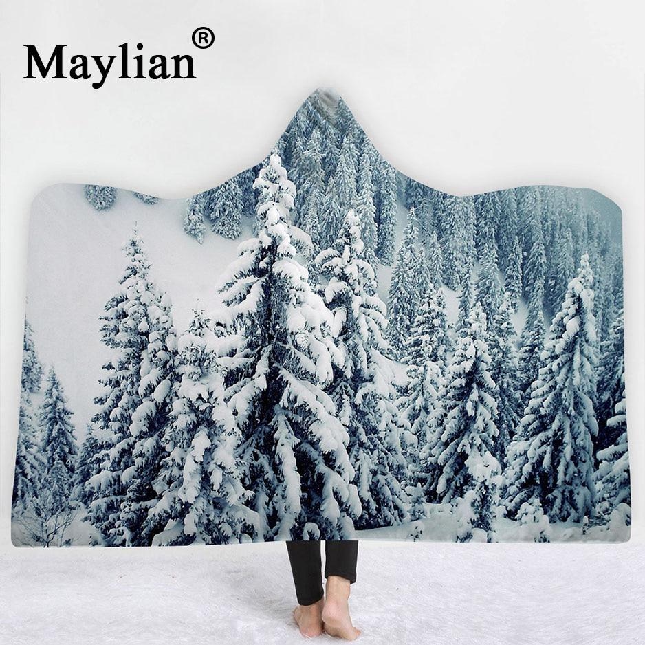 landscape hooded blanket sherpa