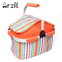 20L Pinic Basket Bag BBQ Outdoor Insulation Lunch Food Storage Ice Pack Pouch Thermal Fresh Preservation