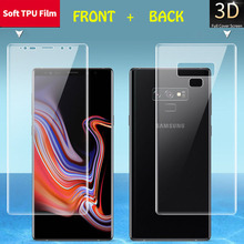 For Samsung Galaxy Note 9 8 S9 S8 A6 A8 Plus S7 Edge Soft TPU Full Cover Front Back Screen Protector HD Clear Thin Film No Glass
