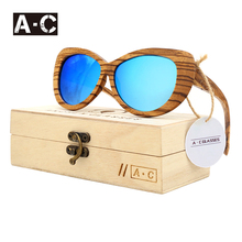 Angcen Original Wooden Bamboo Sunglasses 2017 Hot Sale Pilot Sunglasses Womens Polarized Fishing Sunglasses Gafas De Sol Hombre