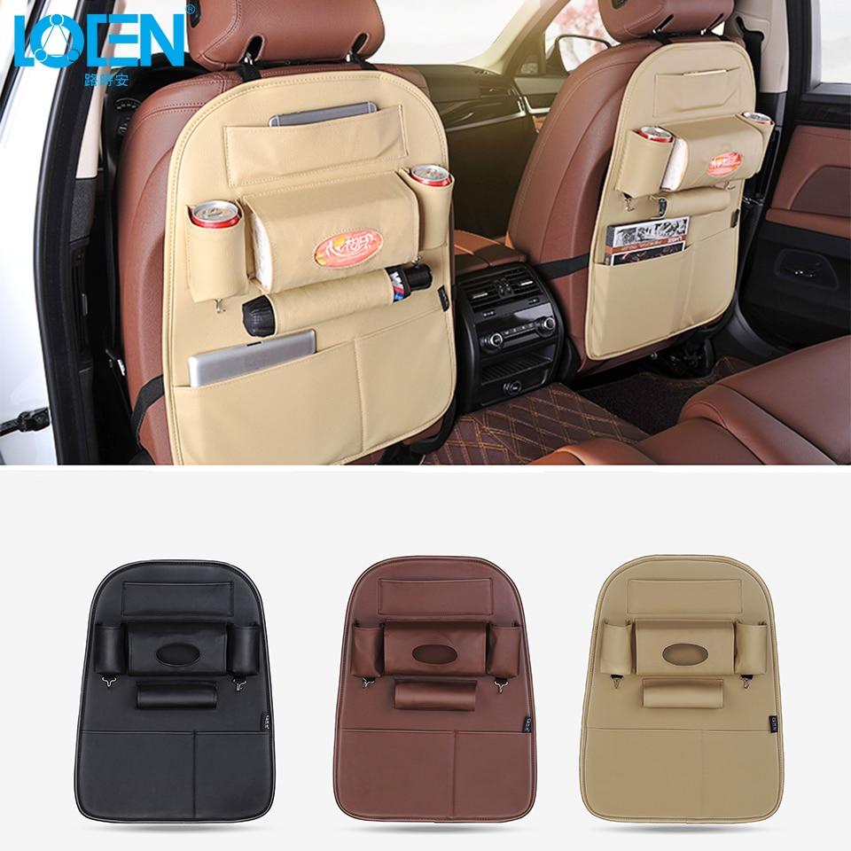 Kualiti PU Kulit Auto SUV Seat Kereta Kembali Penganjur untuk Telefon - Aksesori dalaman kereta - Foto 1