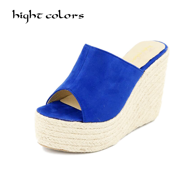 bfd78c3541db Plus Size 34-45 New 2019 High Heels Women Flip Flops Summer Sandals  Platform Wedges Slippers Girl s Fashion Beach Shoes