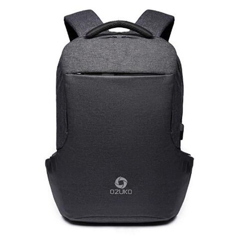 OZUKO חדש נגד גניבת מטען USB תכליתי תרמיל גברים המוצ 'ילה תרמילי מחשב נייד 15.6 אינץ זכר האופנה נער ילקוט