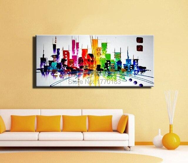 Mode moderne peinture abstraite de New York city couleur