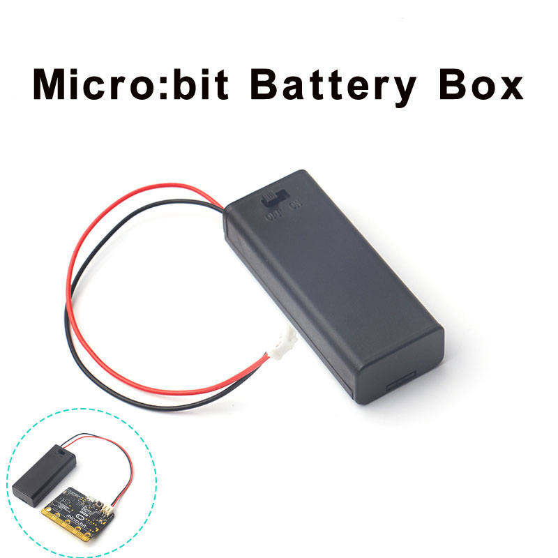 For Micro:bit Battery Holder Case Cover Shell For 2pcs AAA Batteries 3V PH2.0 For Microbit Development Board Kids FZ3226
