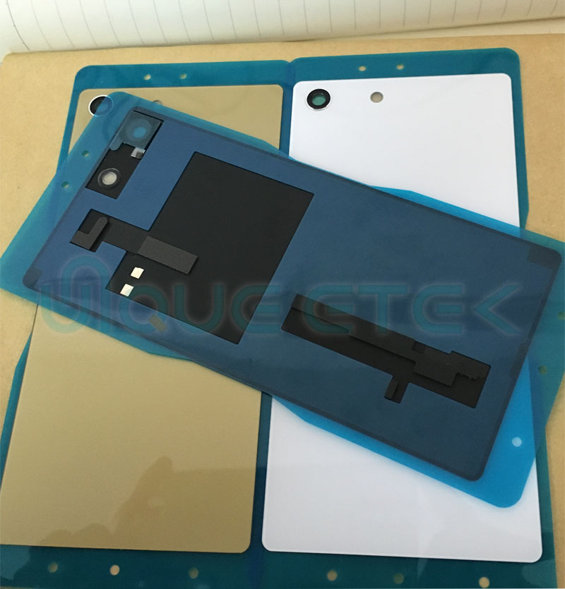 M5 Dual Back Cover For Sony Xperia M5 E5603 E5606 E5653 Back Cover Battery Door Replace With NFC Connector +Sticker