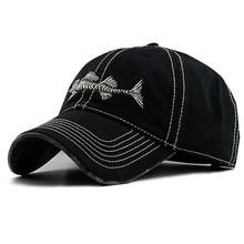 Новые летние модные кепки, хлопковые бейсбольные шапки, регулируемые хип-хоп шапки с рисунком рыбьей кости, с вышивкой, солнцезащитные шапки для мужчин и женщин