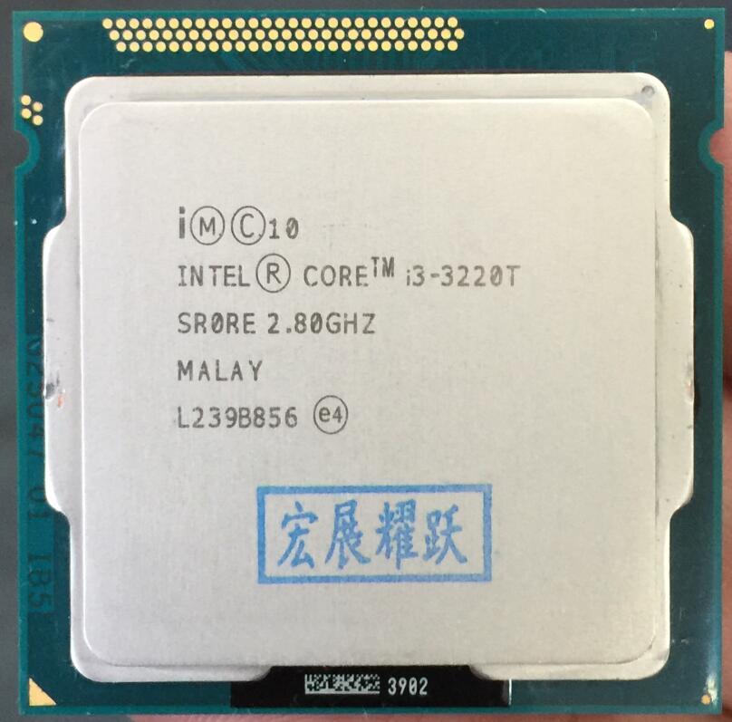 Ordinateur PC Intel Core i3-3220T processeur i3 3220 T (Cache 3 M, 2.80 GHz) processeur de bureau LGA1155